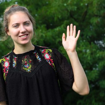 """""""Szeretek itt lenni!"""" ‒ Interjú gyülekezetünk idei önkéntesével, Juliane Kühllel"""